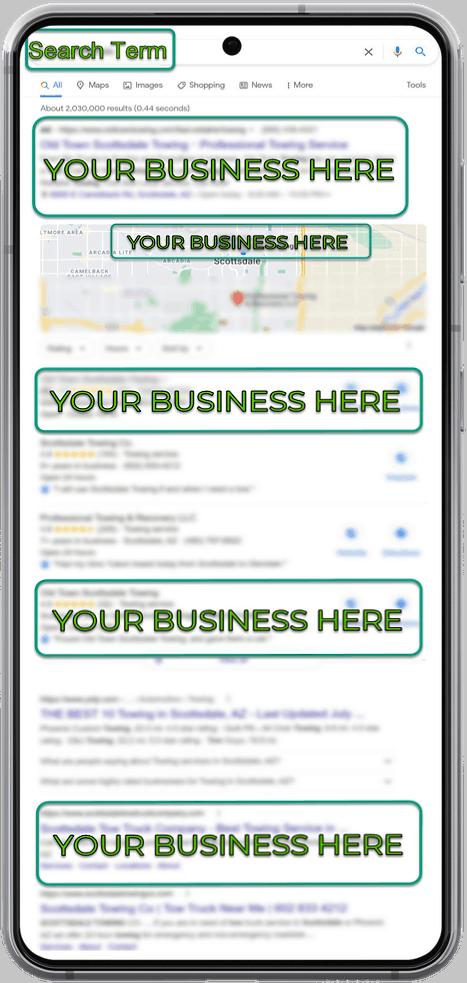 Hybrid SEO Campaign Mobile Search Result